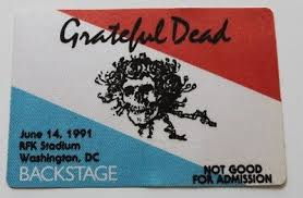 Grateful-Dead-Back Stage Pass-06-14-1991
