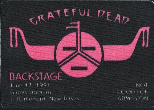Grateful-Dead-Back Stage Pass-06-17-1991